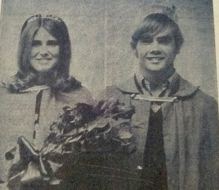 FIFTY YEARS AGO: Chuck Wolkow and Ilene Baumberger are this year's homecoming king and queen. There were many beautiful, humorous and original floats featured in the parade.