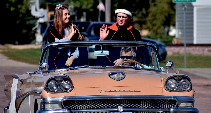 Queen Katie Dubro, daughter of Chad and Angel Dubro, and King Montana Sprong, son of Shasta Moran and Rodney Sprong, reign over the 2021 Homecoming festivities.