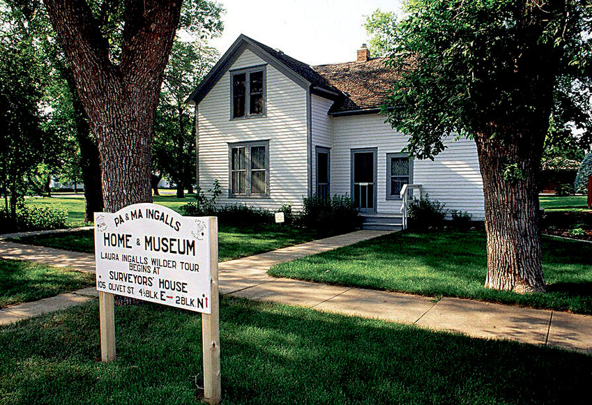 Pictured is the house that Pa Ingalls constructed in De Smet where the Ingalls family lived during many of their years in De Smet. This is the photo used by the USA Network on their website promoting votes for De Smet as the Best Historic Small Town in the US.