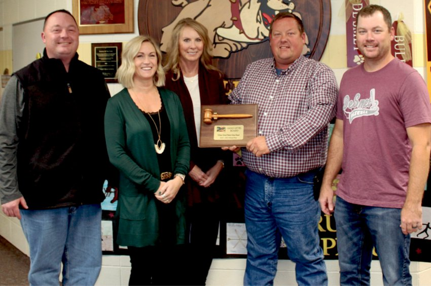 De Smet Board of Education President Shane Roth, left, Barb Asleson, Donita Garry, Jared Tolzin and Evan Buckmiller were recently recognized by the Associated School Boards of South Dakota for achieving the status of Gold Level Board for the 2020-2021 school season. To be eligible for the gold level, the school board is required to complete training, attend events and participate in various activities to earn points to achieve the various levels. In South Dakota, thirty-three school boards achieved the gold level out of 167 school boards.