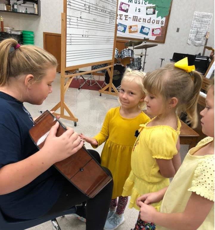 Lake Preston Elementary students learn about the different types of instruments each year.