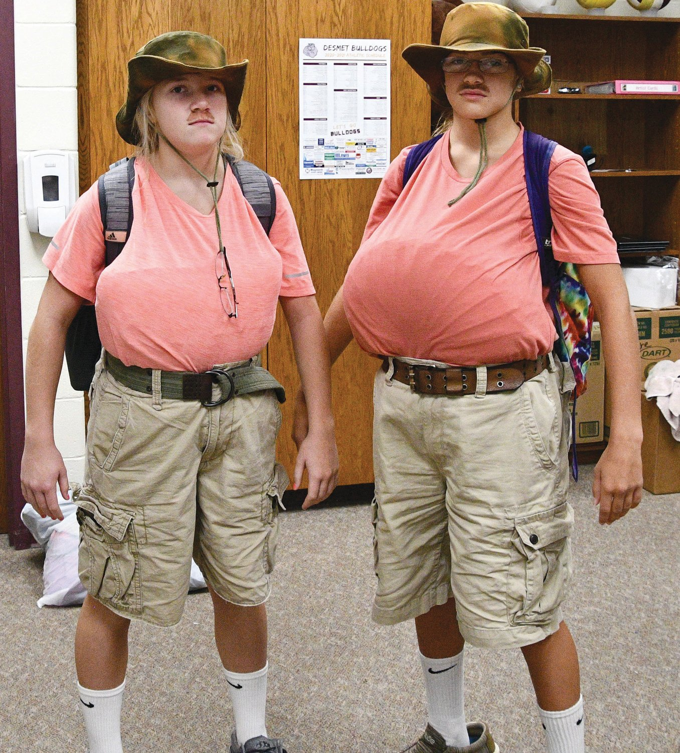 Alyssa Asleson and Mirra Beck dress up on Due Day.