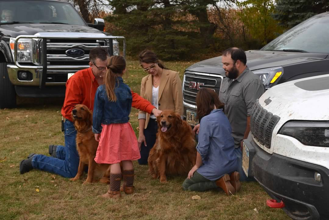 The Spirit Lake Presbyterian Church held a Blessing of the Animals Service this past Sunday.  The Glanzer family and their two dogs Bella and Sadie were blessed by Pastor Jerod Jordan.