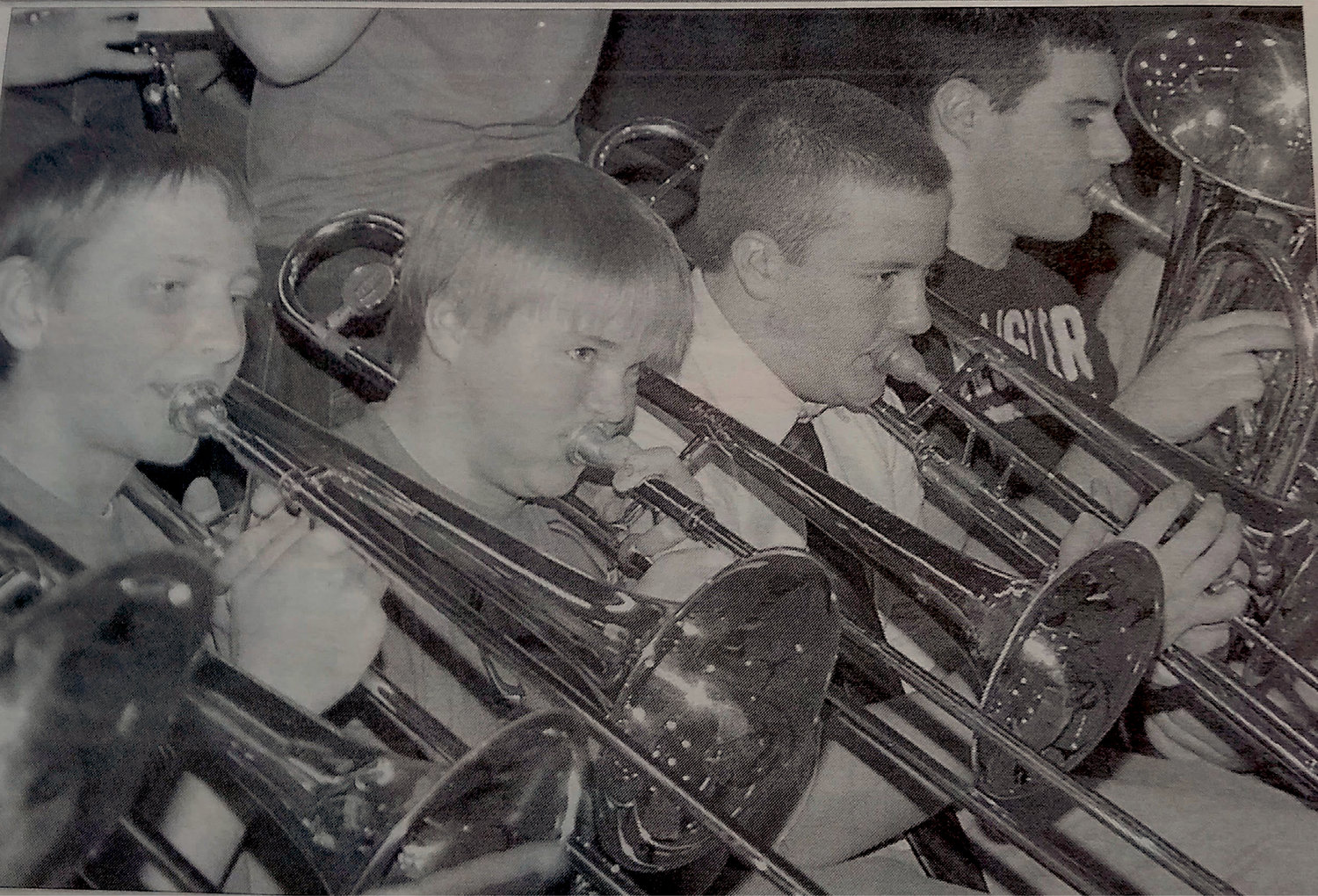 TEN YEARS AGO: When the high school pep band is joined, as it was at home games last week, by the junior high band, the local musicians can shake the rafters. Sixth-grader Brock Bumann, eighth-grader Taylor Nelson, and seventh-grader Tristan Vedvei, all on trombone, played alongside junior Zach Longville on baritone.