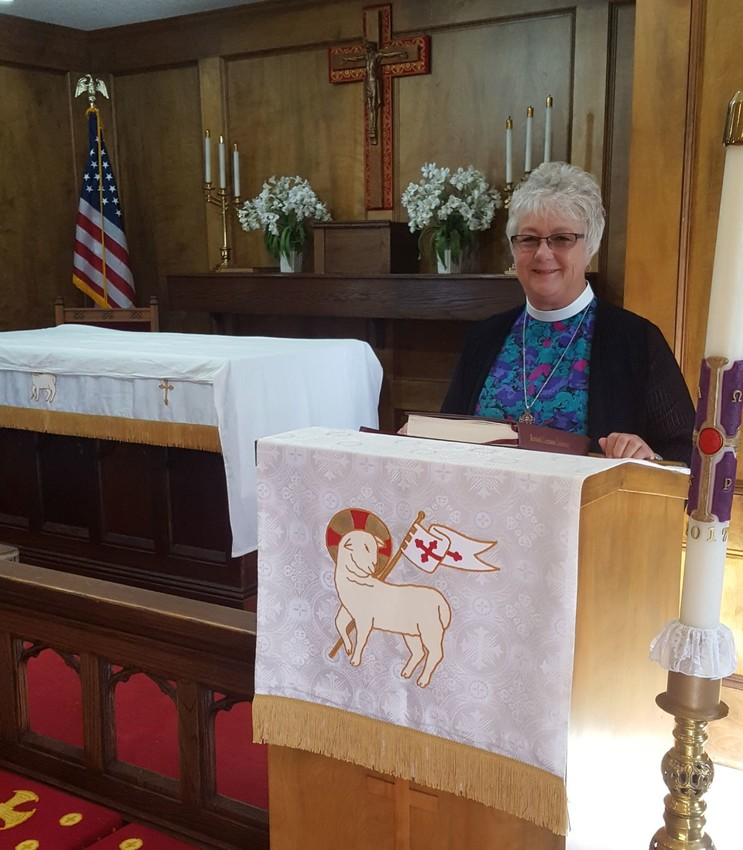 Reverend Cindy Clark takes over as pastor of Madisonville's Holy Innocents Episcopal Church on McIver Street this Sunday, May 7.