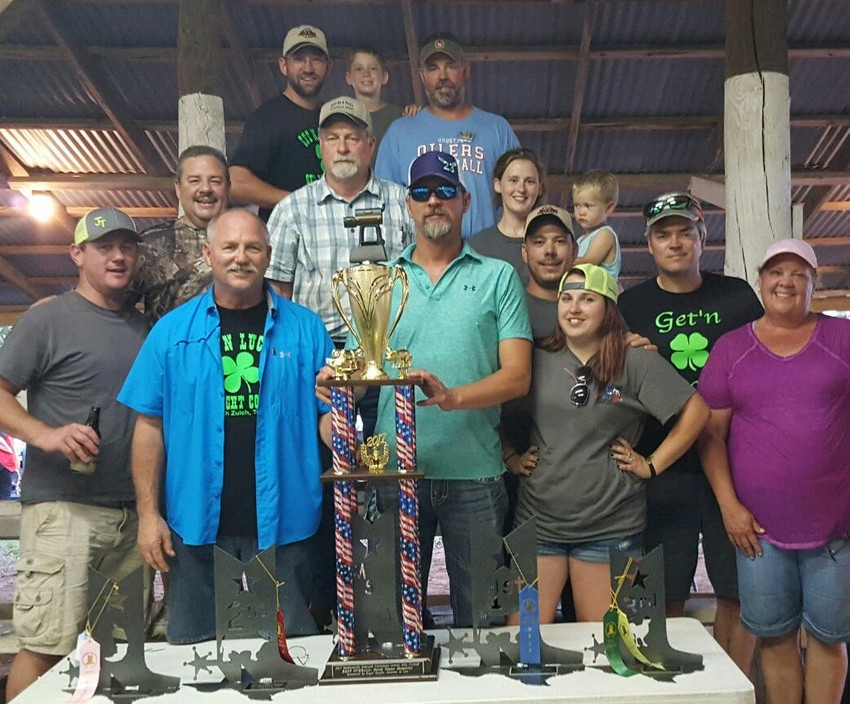 "The team of ""Get Right Cookers 1"" from Harris County, TX, were named ""Grand Champion"" of this year's Madisonville Sidewalk Cattlemen's Association cook-off."