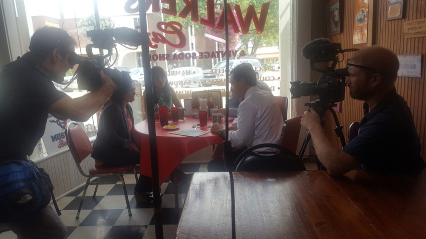 Arrowhead Films, of Austin, Texas creates diverse award-winning media productions and was on-site at Walker's Cafe' this week to begin filming for an upcoming documentary on Human Trafficking.