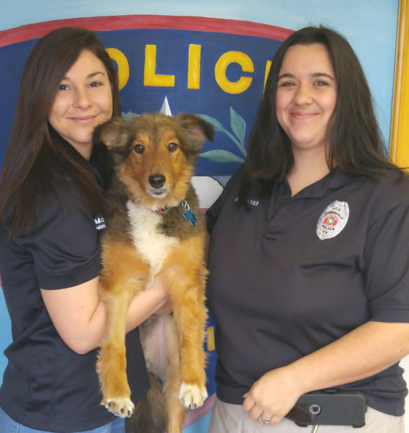Breanna McCormick, MPD Administrative Assistant with Dusty and City of Madisonville Animal Control Officer, Ellie Haynes