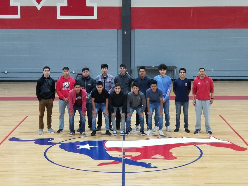 The Madisonville soccer team poses together after they earned their 2018 awards from opposing district coaches.