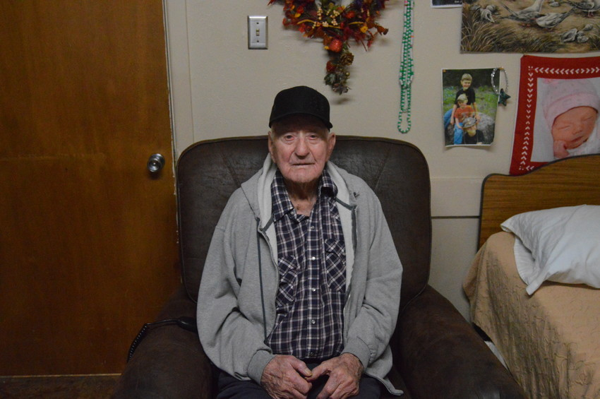 Madisonville Care Center resident Leonard Akers of Weed, New Mexico celebrated his 105th birthday on Tuesday.