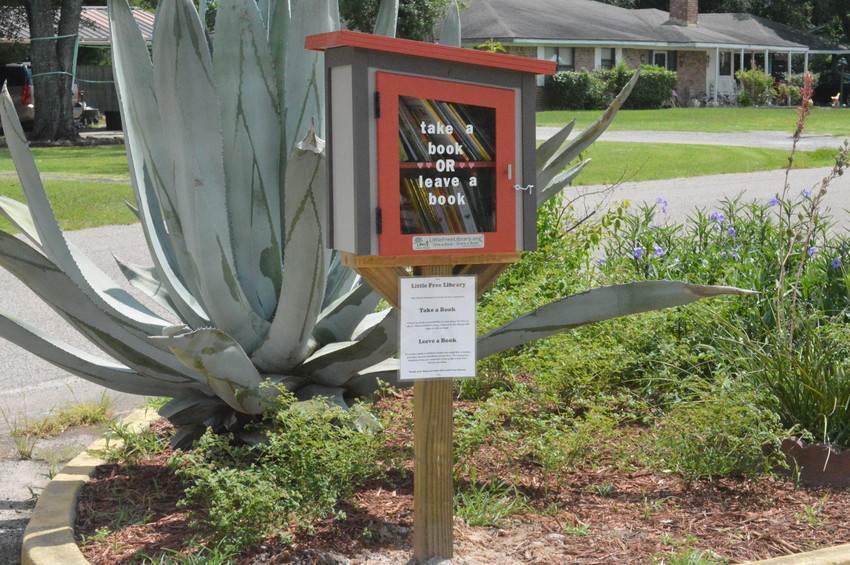 Madisonville's new Little Free Library, the county's first, is located at the Madison County Extension Office and offers a unique way to share books.