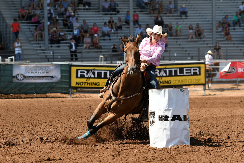 Lyndie Dunn of Midway competes at the 2017 International Finals Youth Rodeo in Shawnee, Oklahoma a year ago.
