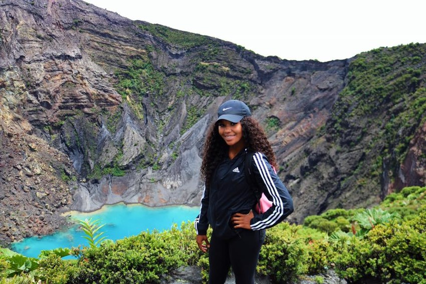 Madisonville native Kelsey Byrd poses during her trip to Costa Rica over the summer, which lasted for three months.