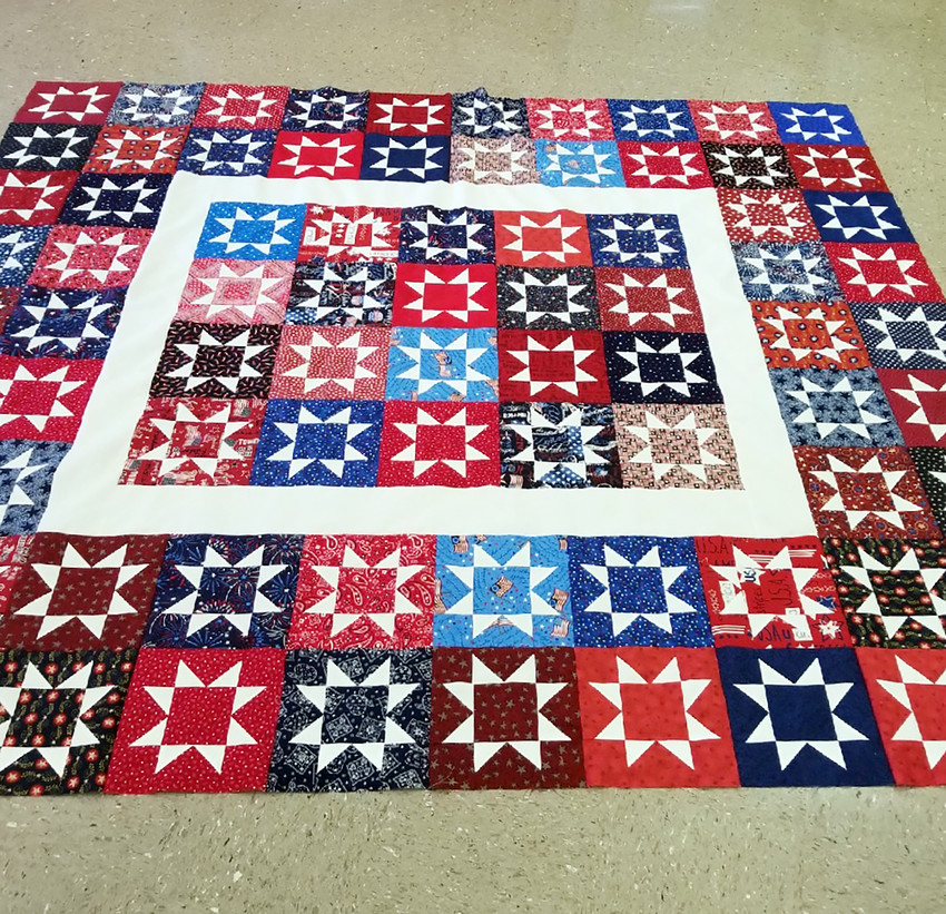 Quilts such as the one shown will be on display at the annual Texas Mushroom Festival.