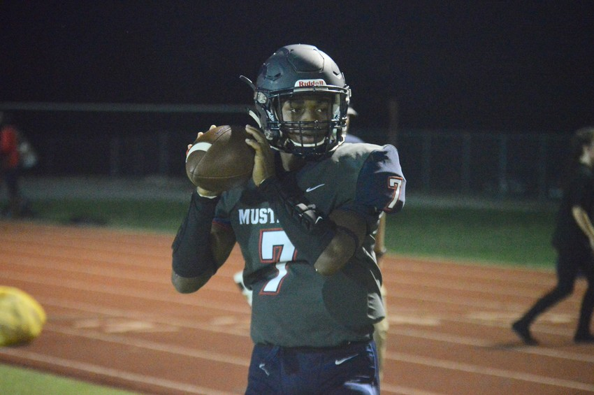 Madisonville quarterback Tyrese Brown rushed for 127 yards in Friday's 42-21 Mustang loss to the Connally Cadets at MHS.