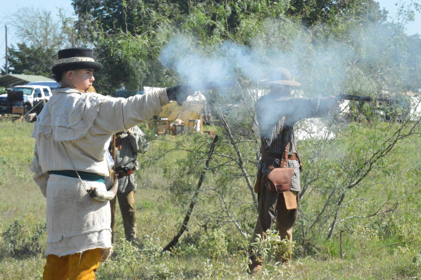 Members of the Texas Association of Buckskinners practiced rifle and pistol skills, knife and hawk throwing, primitive fire starting and primitive archery at the 40th annual Fall Rendezvous in North Zulch over the weekend.
