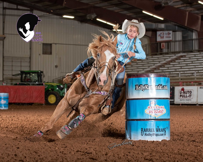 Drew Ellen Stewart of Normangee will be one of 147 cowgirls competing at the KK Run for Vegas/JrNFR Barrel Race, set for Dec. 11-15 in Las Vegas.