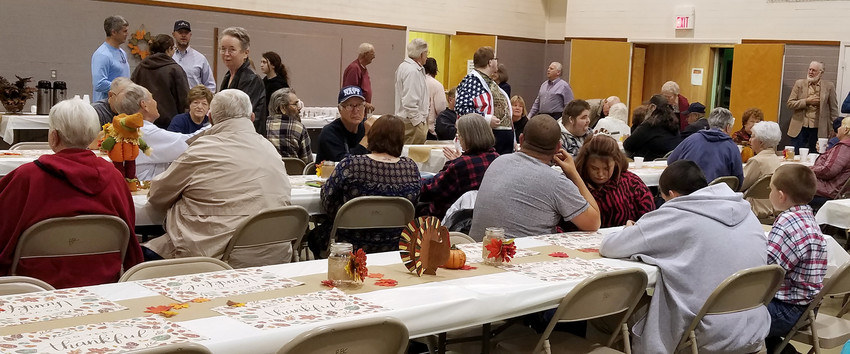 The Bedias Baptist Church Annual Community Thanksgiving Dinner was well attended.