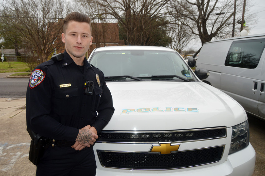 Joseph Messer started as a police officer in Madisonville on Dec. 5, the beginning of a journey in law enforcement which he says will ultimately see him as a U.S. Marshal.