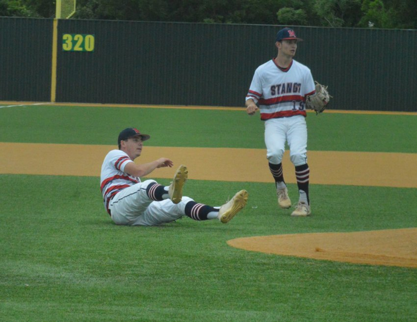The Madisonville baseball team dropped an Area playoff double-header to Robinson on Friday by scores of 9-3 and 12-2 in Cameron.