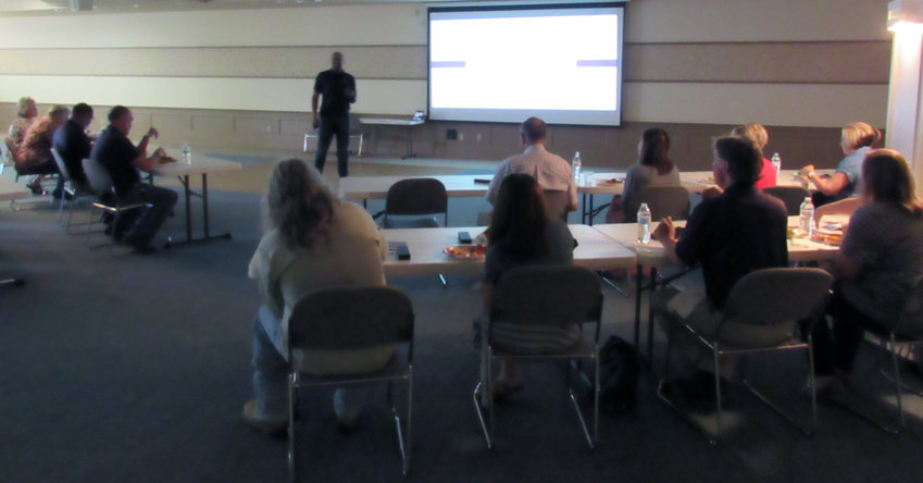 City and County employees and elected officials attend cyber attack training by Marcus Pitre, owner of The City Technology Group.
