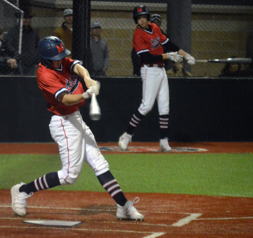 The Madisonville baseball team won three games at a tournament in Palestine over the weekend with victories over Elkhart, Bishop Gorman and Leon. (Pictured: Rayce Hudson)