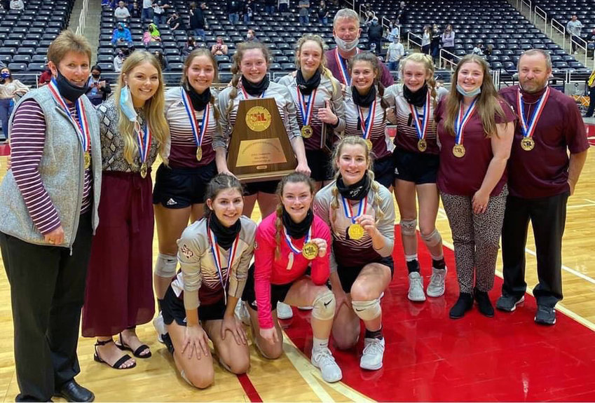 The Iola Lady Bulldogs secured their third state title in program history Saturday with a victory over Crawford in the 2A State Championship at the Curtis Culwell Center in Garland.
