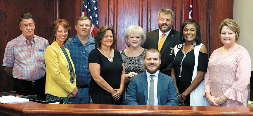 County Officials — Road Commissioner Scotty Bailey, Circuit Court Clerk Sarah Bradberry, Road Supervisor Ricky Scott, County Trustee Paula Bolen, Property Assessor Rita Jones, County Mayor Joseph Butler, Sheriff Andy Dickson, Register of Deeds Natalie Porter, and County Clerk Darlene Kirk.
