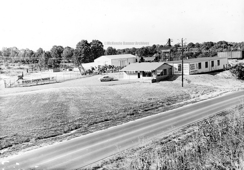 McKenzie Concrete Products, Highland Drive, early 1950s.