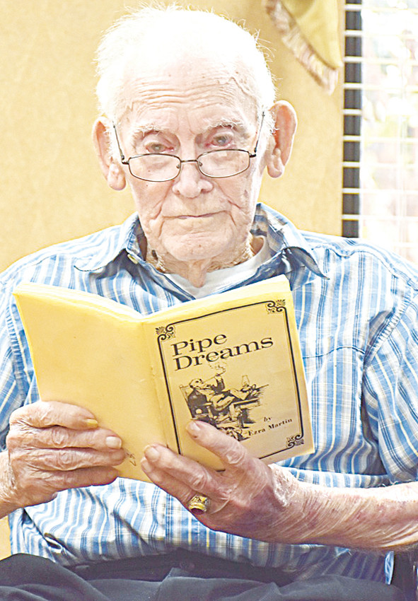 Ezra Martin celebrated his 104th birthday last Thursday at NHC Healthcare in Milan. Mr. Martin, a teacher and self-published poet, delighted his friends and family with poetry readings and songs during the celebration.