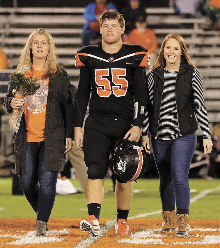 Seth Jones, 55, was accompanied by his mom, Christina Burton and sister, Briana Jones.