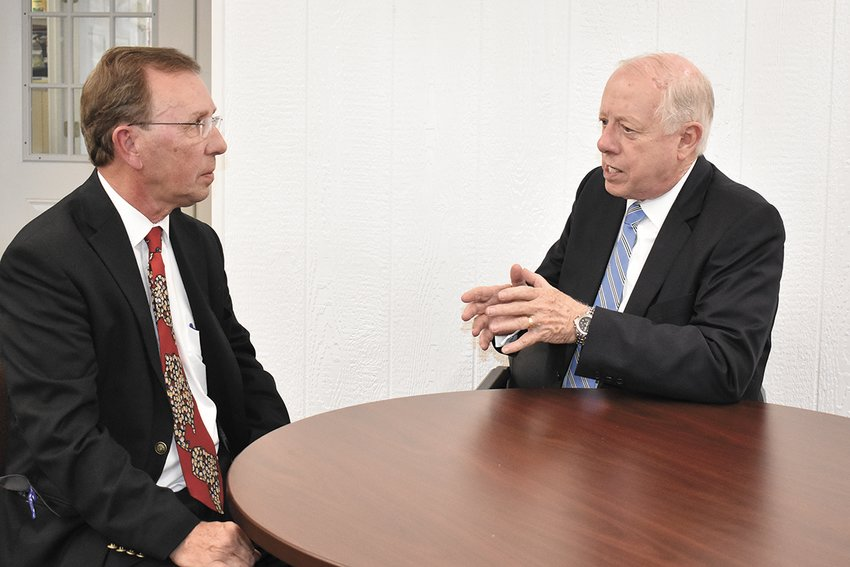 Joel Washburn, publisher of The McKenzie Banner, interviews Phil Bredesen, candidate for the U.S. Senate representing Tennessee.