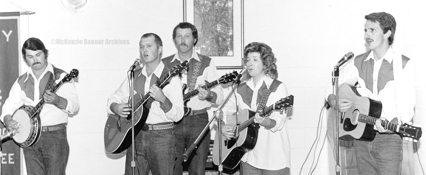 Danny Martin Band, early 1980s, (L to R): Jimmy King, Randy McCadams, Danny Martin, Bonnie Martin, David Johnson.