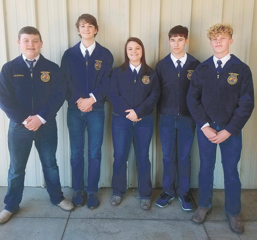 The McKenzie FFA competed at the University of Tennessee at Martin on November. 6 at the West Tennessee Livestock Judging Competition.  The team placed third in the district.  Team consisted of Will Gallimore, RC Wilson, Presley Chadwick, AJ Murphy, and Chase Webb.