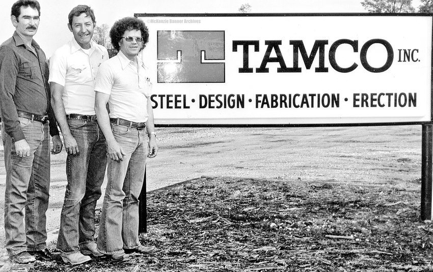TAMCO, INC., early 1980s (L to R): Terry Blakemore, Lynn Russell, and Joe Morris.