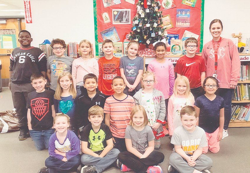 McKENZIE — Miss Sydney Wood's second grade class reached its reading goal of 1,000 Accelerated Reader points in December. The class maintained an average of 93 percent correct in comprehension while achieving the goal. Congratulations to the class and keep up the hard work!