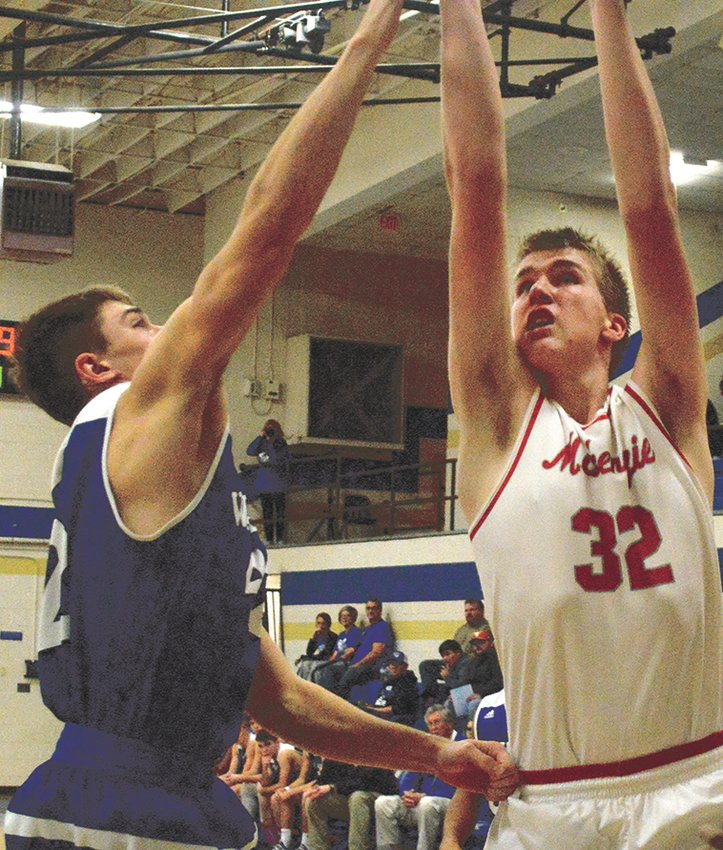 Ben Austin goes up for two of his 30 points against Waverly.