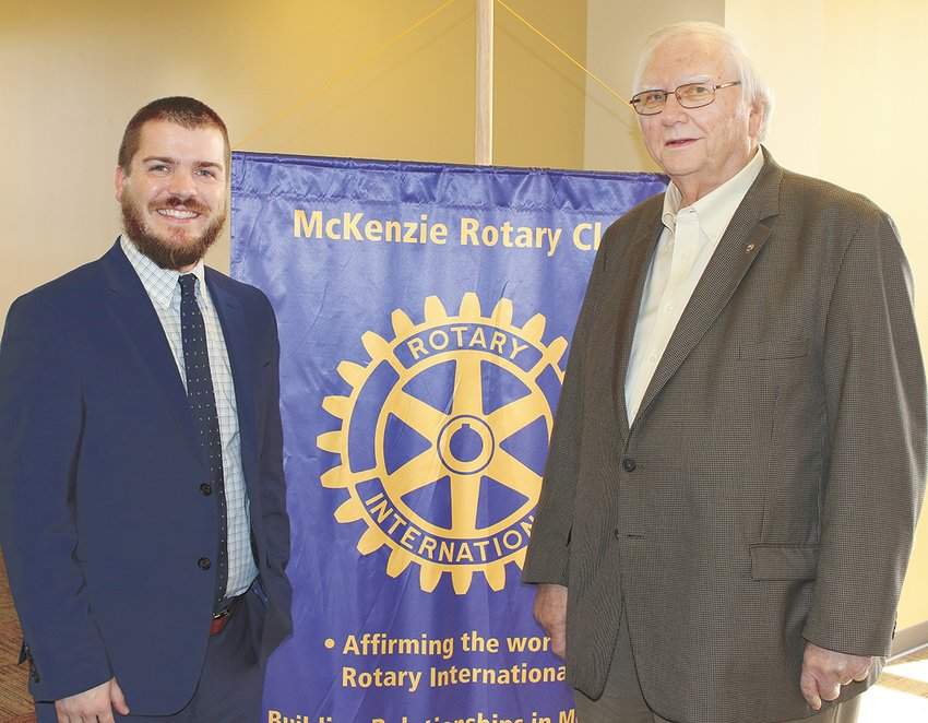 Joseph Butler was the guest of Ed Perkins at the McKenzie Rotary Club meeting on January 8.