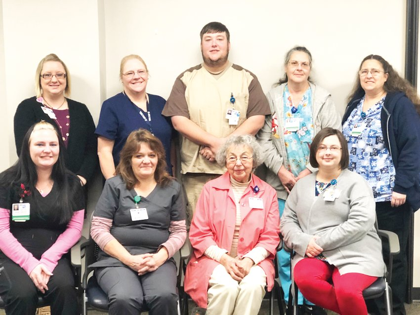 Pictured are HCMC's Stars of Excellence recipients for December in the Stars of Excellence program.