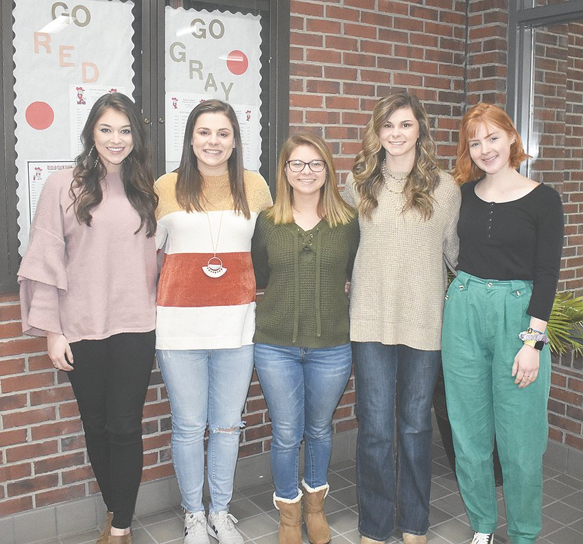 McKenzie High School will celebrate Homecoming Friday as they host Columbia Academy. Prior to the girls' tip-off, the Homecoming Queen will be crowned. Candidates for MHS Basketball Homecoming Queen are (L to R): junior Sydney Pate and seniors Macey Ognibene, Julianna Cole, Shelby Tucker and Maggie Latimer.