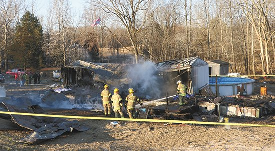 A fire on New Zion Road, McKenzie was fatal to three on Tuesday, January 29. Photo by Joel Washburn/The Banner.