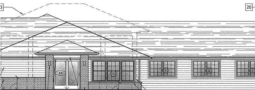 Modifications will be made to the entrance of Christian Care Center, including a new facade and increased elevation.