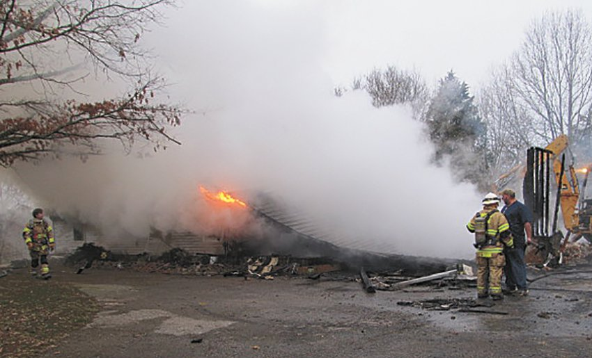 The home at 300 Chick Lane, Huntingdon was totally destroyed by fire last Friday.