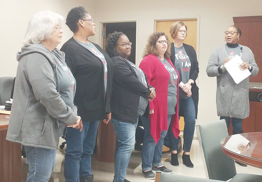 West Carroll Pre-K teachers and assistants. From (L to R); Janice Vinson, Lori Bigham, Sharlanda Emerson, Dorothy Martin, Brittany Foster, and Primary School Principal Jackie Wester.