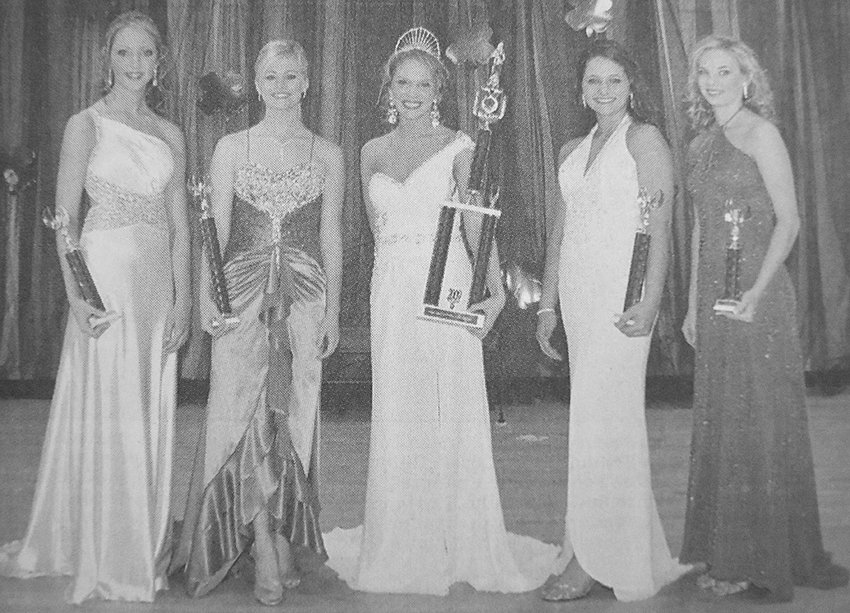 10 YEARS AGO — Madison Lane was crowned Miss West Carroll High School. Pictured are (L to R): Third Maid Kayla Beth Foster, First Maid Elizabeth Pratt, Lane, Second Maid Savannah Coleman and Fourth Maid Jana Vestal.