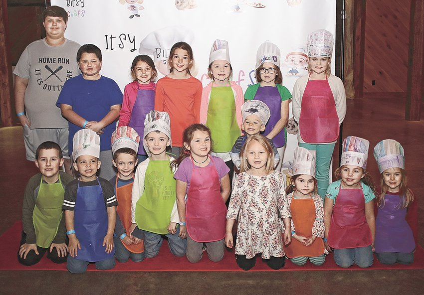 The inaugural class of Itsy Bitsy Chefs.