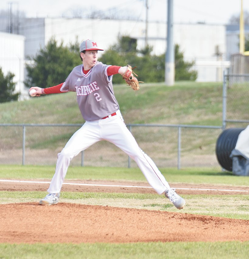 Rebel pitcher Evan Jarrett took the loss for McKenzie, allowing five runs (two earned) on four hits while striking out five and walking two in three innings.