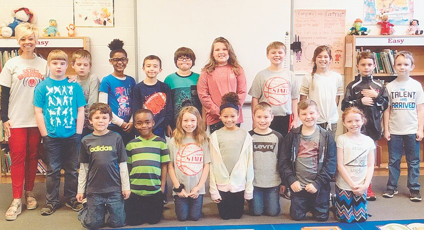 Mrs. Courtney Kee's third grade class reached its reading goal of 1,000 Accelerated Reader points in March. The class maintained an average of 92.6 percent correct in comprehension while achieving the goal. Congratulations to the class and keep up the hard work!