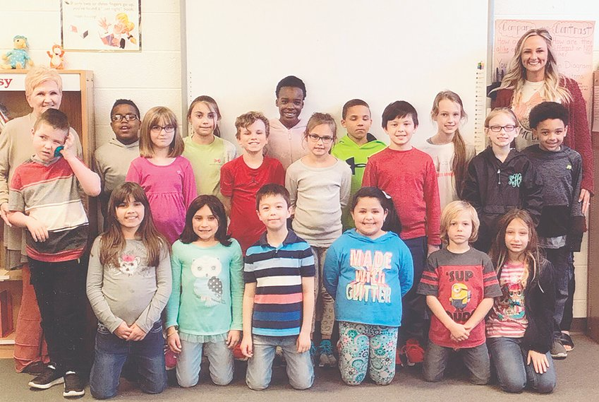Mrs. Josie Brown's third grade class reached its reading goal of 1,000 Accelerated Reader points in March. The class maintained an average of 91.7 percent correct in comprehension while achieving its goal. Congratulations to the class and keep up the hard work! Submitted photo