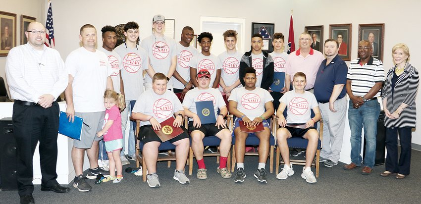 Players and coaches of the 2018-2019 team were joined by members of the City of McKenzie legislative body honoring the team with a Mayoral Proclamation for the team's accomplishments in the 2018-2019 season.